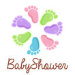 Baby Shower Feet Emblem