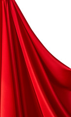Folded red satin