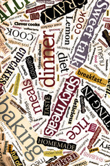 food words collage