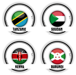 drapeaux africains