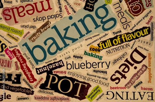 retro food words