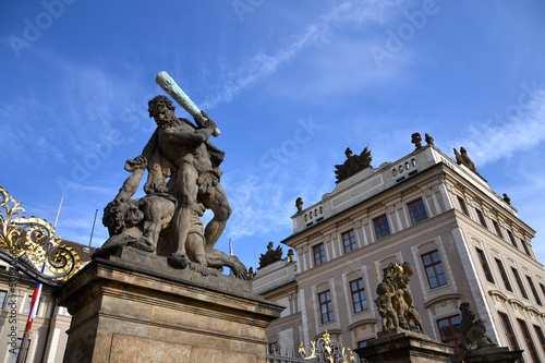 Statue of fighter in front of the Prague Castle