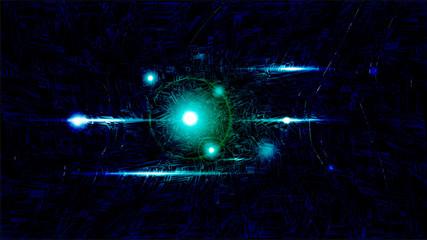 Vector illustration of futuristic dark abstract glowing