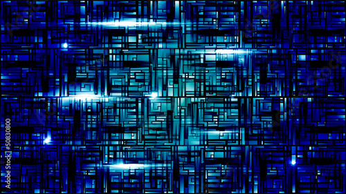 Vector illustration of futuristic blue abstract glowing