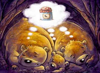 osos soñando con miel
