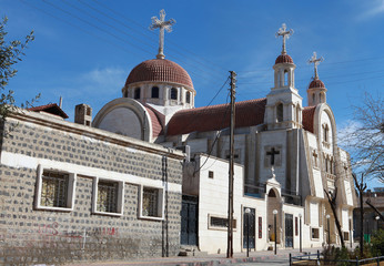 Mart Shmone Syriac Orthodox Church in Derik in North of Syria.