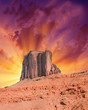 Famous landscape of Monument Valley - Utah