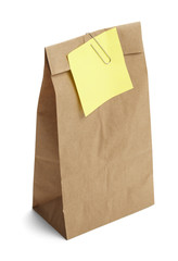Lunch Bag Yellow Note