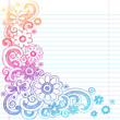 Flowers Sketchy Notebook Doodles Vector Illustration