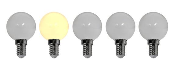 Fila di lampadine