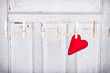 heart on a clothes line