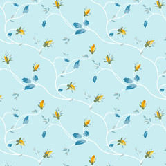 Rosebud pattern design