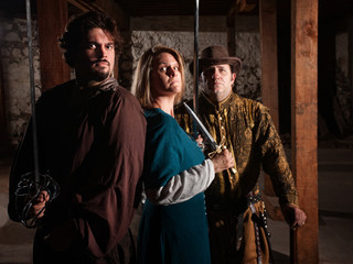 Trio of Medieval Gamers