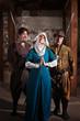 Swordsmen Teasing Nun