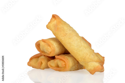Pile of spring rolls