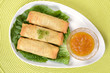 Top view of spring rolls