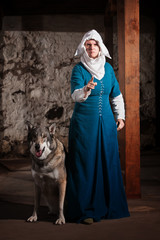 Insulted Nun with Dog
