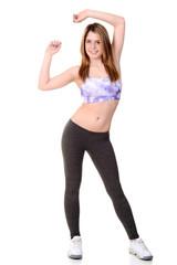 Woman doing zumba workout