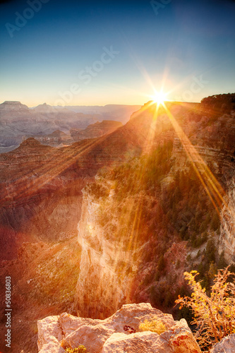 Alba sul Grand Canyon, USA