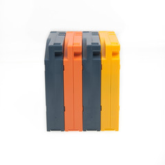 Blue, Orange and Yellow  Cartridges (placed on narrow side)