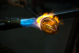 Finishing Glass Object with Torch