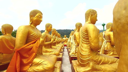 Golden Buddha at Buddha Memorial park, Thailand