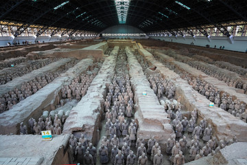 xian terracotta warriors and horses
