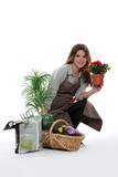 female florist with flowers