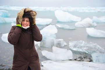 Girl in iceland