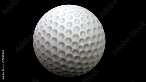 Golf ball spinning around in 3D space in a loop