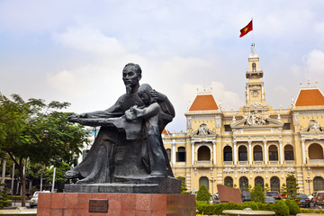 Ho Chi Minh City Hall or Hotel de Ville de Saigon, Vietnam.