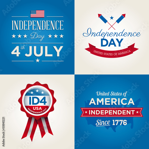 Happy independence day cards U.S.A, 4 th of July