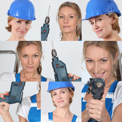 Portrait of handywomen