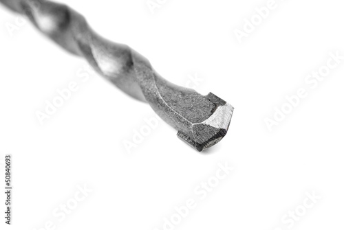 Drill bit for concrete processing isolated  on white