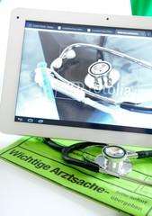 Tablet PC beim Arzt
