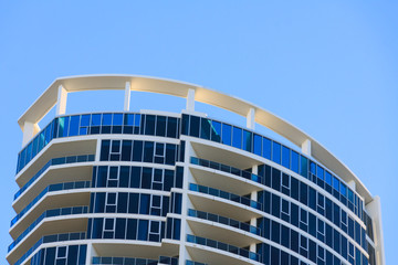 roof of high rise bulding in Gold Coast, QLD, Australia