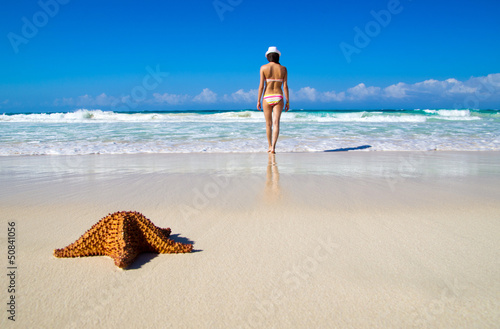 woman relax on beach