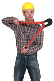 Man using bolt-cutters