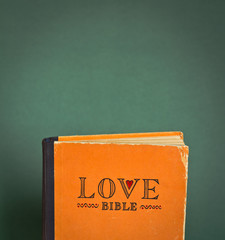 Vintage Love Bible with space for your text - love commandments