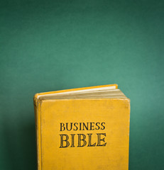 Vintage Business Bible with business rules