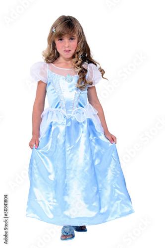 little blonde girl dressed as princess