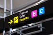 Boarding gate sign, Malaga airport © Arena Photo UK