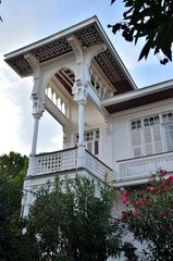 Elegant white house, balcony: Turkey