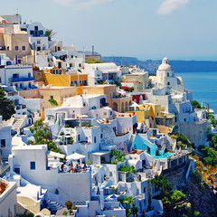 beautiful romantic Santorini