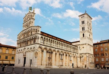 Basilica San Michele in Foro in Lucca, Italy