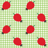 Checked pattern with rose hip