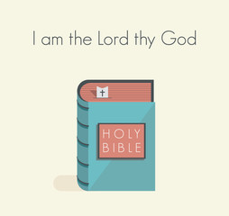 I am the Lord thy God commandment with holy bible