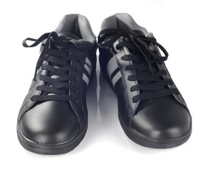 Black new sneakers front view