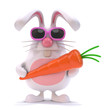 White rabbit has a nice healthy carrot