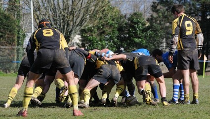 la mêlée au rugby